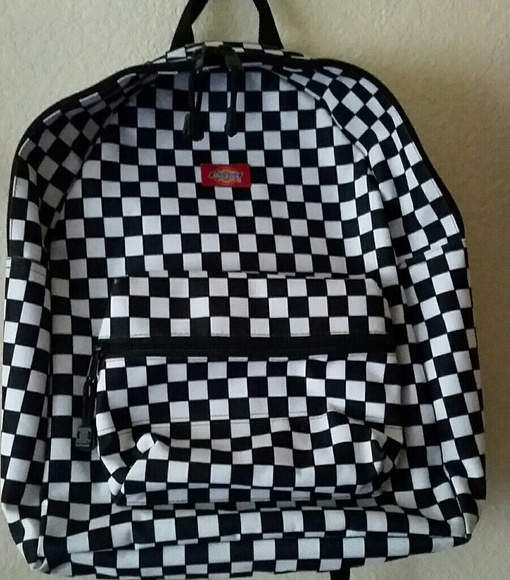 c5e8c632bf8 Dickies Black and White Checkered Backpack